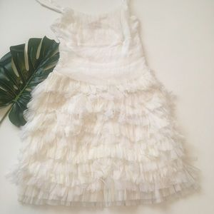 Bailey 44 white Tulle dress size large
